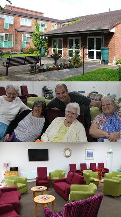 Gutersloh collage - communal garden, lounge and tenants
