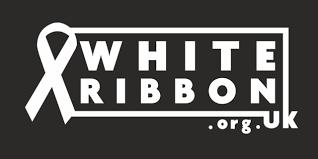 White ribbon - white ribbon on black background