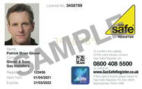 Gas engineer ID card