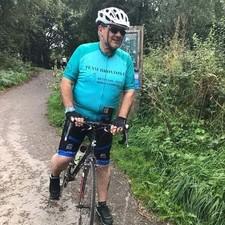 The Mayor of Broxtowe on his bike.