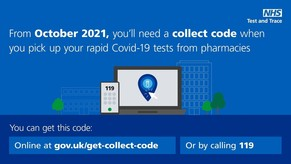 You'll need a collect code when you pick up your rapid COVID-19 tests from pharmacies