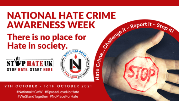 National Hate Crime Awareness Week - there is no place for hate in society