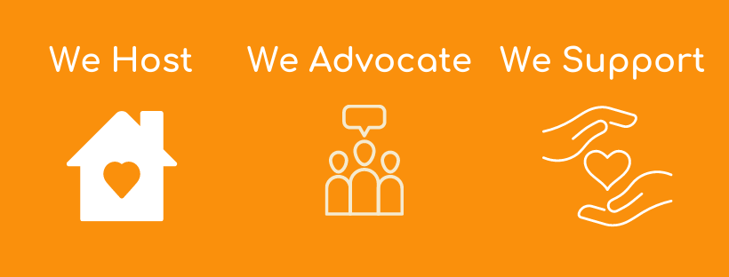 We host, we advocate, we support