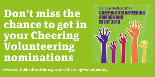 Cheering Volunteering header