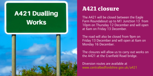 A421 closure