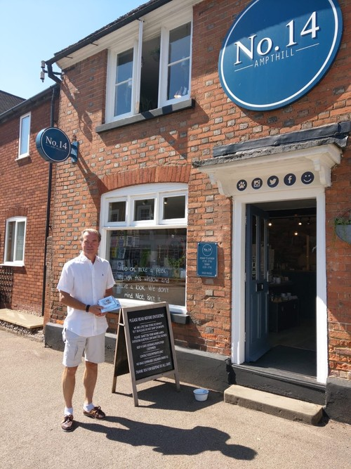 Cllr James Jamieson pictured shopping in Ampthill this week