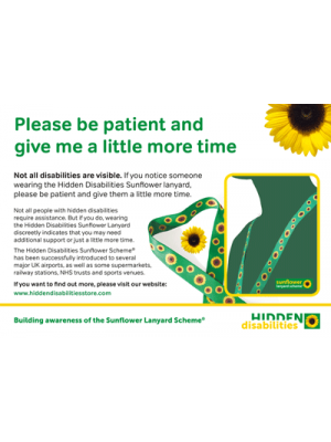 Hidden Disabilities Sunflower Lanyard Scheme