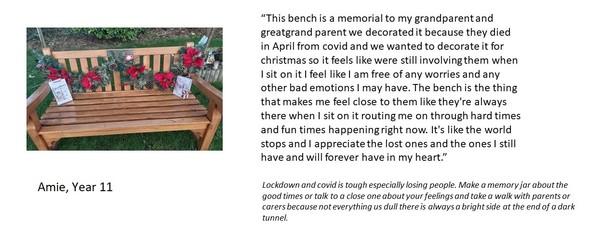 Amie poem bench