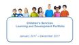 Learning and Development 2017