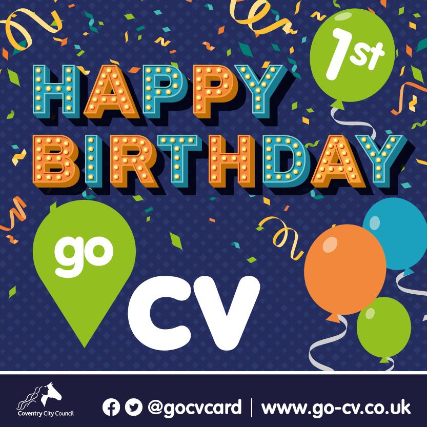 Happy 1st birthday go cv