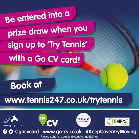Tennis prize draw