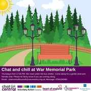 Chat and chill at War Memorial Park poster