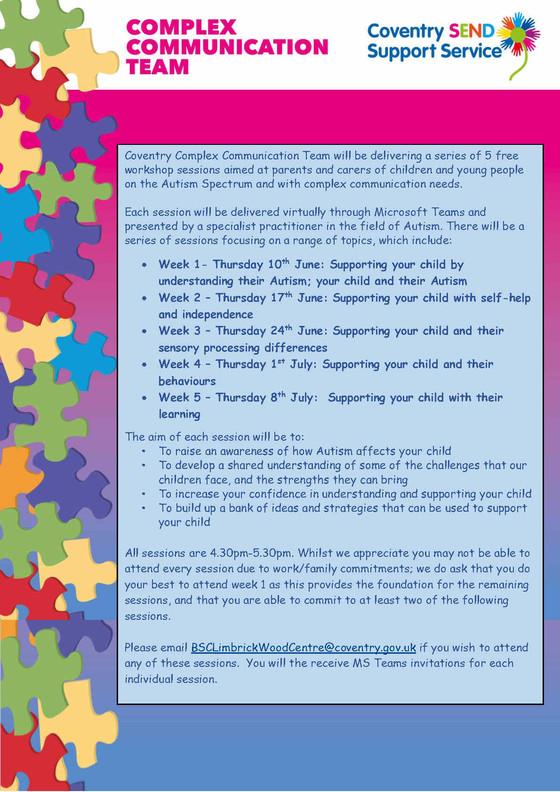 CCT autism sessions