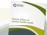 Sexual safety in mental health wards report cover image
