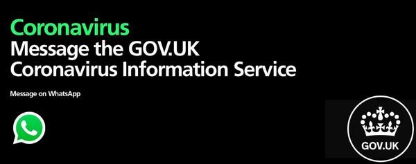 Whatsapp coronavirus information service