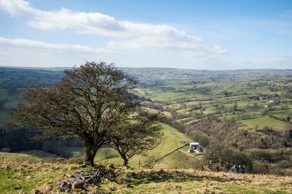 Peak District view in Spring