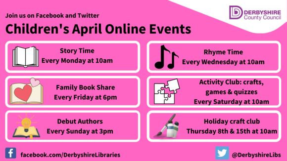 April libraries events poster