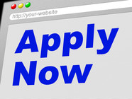 apply now words on a screen