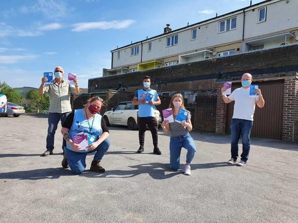 Gamesley volunteers deliver leaflets