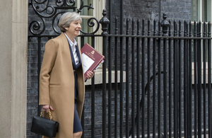 PM leaving Downing Street