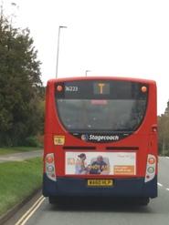 Bus advert