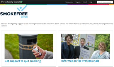 Smokefree Devon Website