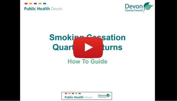 Smoking Cessation GP Surgery Quarterly Returns How To