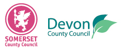 Somerset County Council and Devon County Council logos