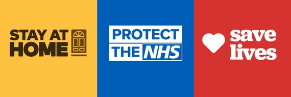 Stay Home, Protect the NHS, Save Lives banner