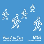 blue proud to care campaign graphic