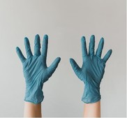 gloved hands