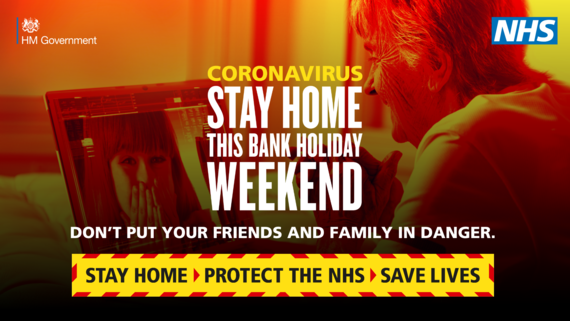 PHE stay home this bank holiday weekend graphic