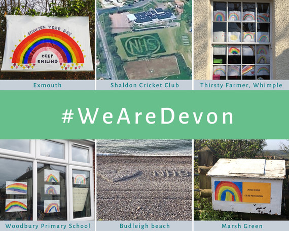 #WeAreDevon collage