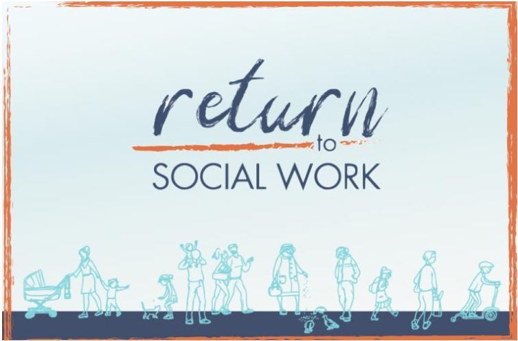 Return to social work campaign graphic