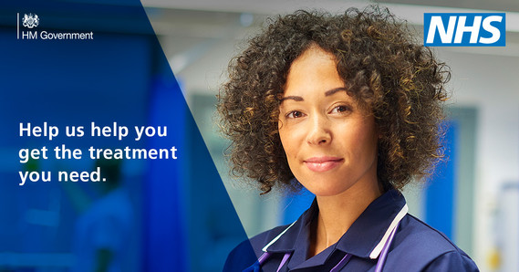 The NHS is here for you campaign graphic - nurse