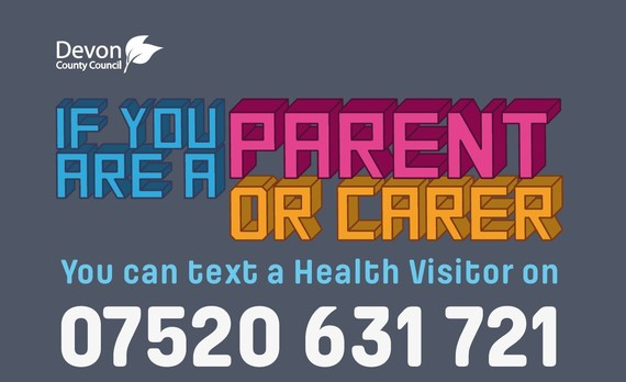 text a health visitor on 07520 631 721