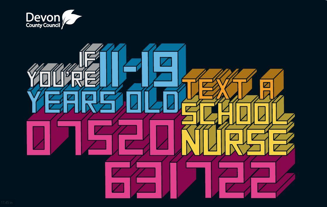 Text a school nurse graphic