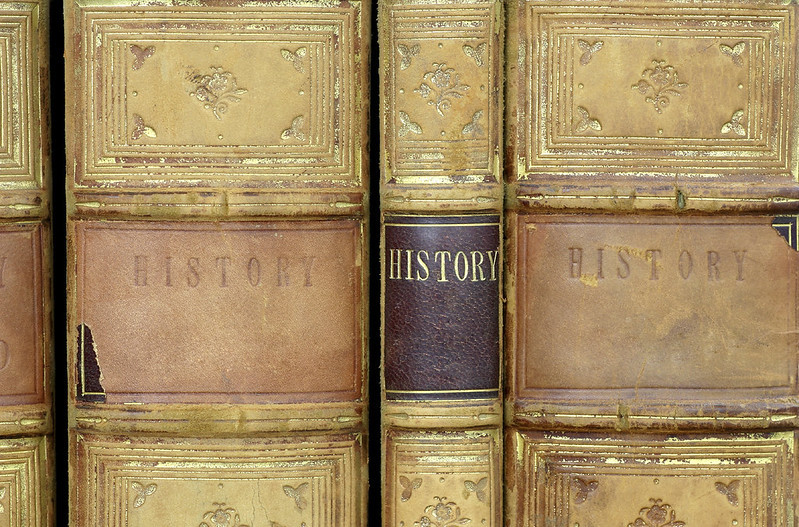 historical book spines