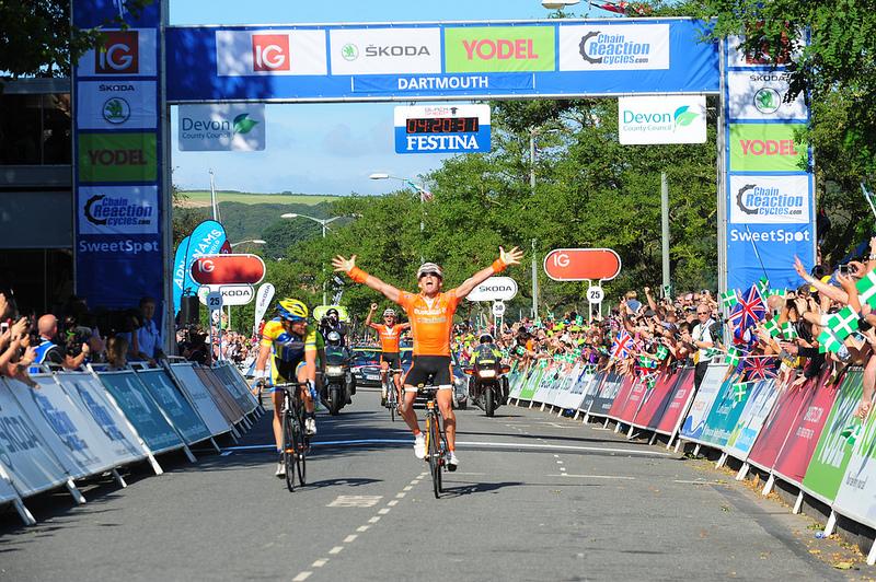 Tour of Britain finish line