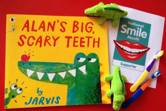 Alan's scary teeth book