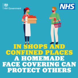 Cover your face with a mask NHS
