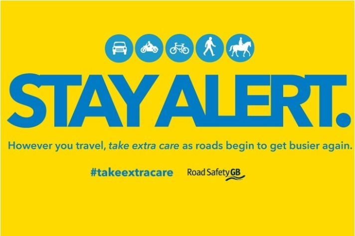 Stay alert travel graphic