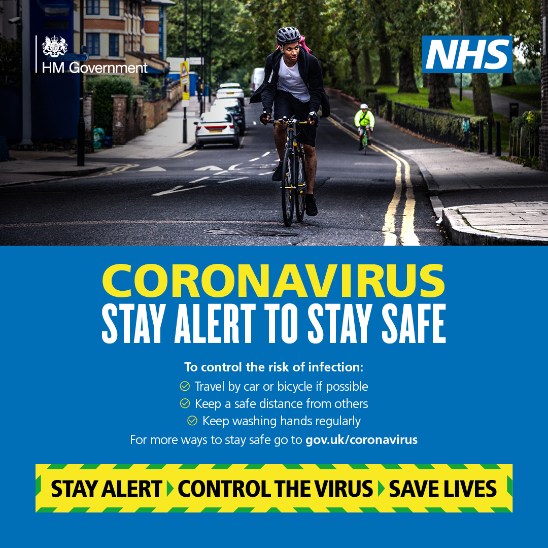 Government stay alert travelling poster