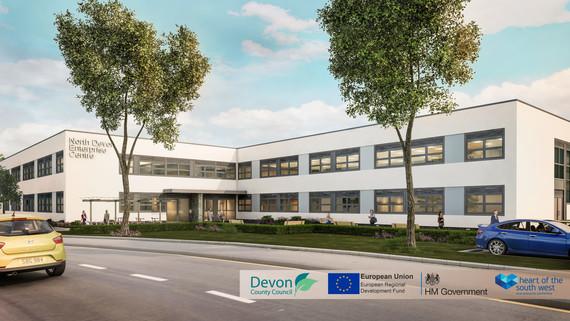Artists impression of North Devon Enterprise Centre