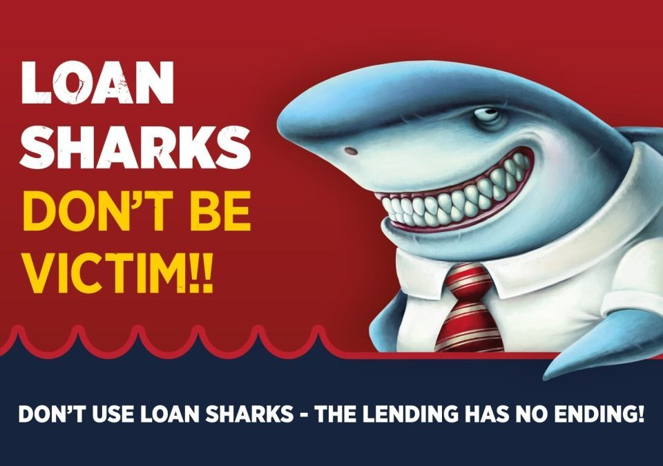 Don't use loan sharks poster
