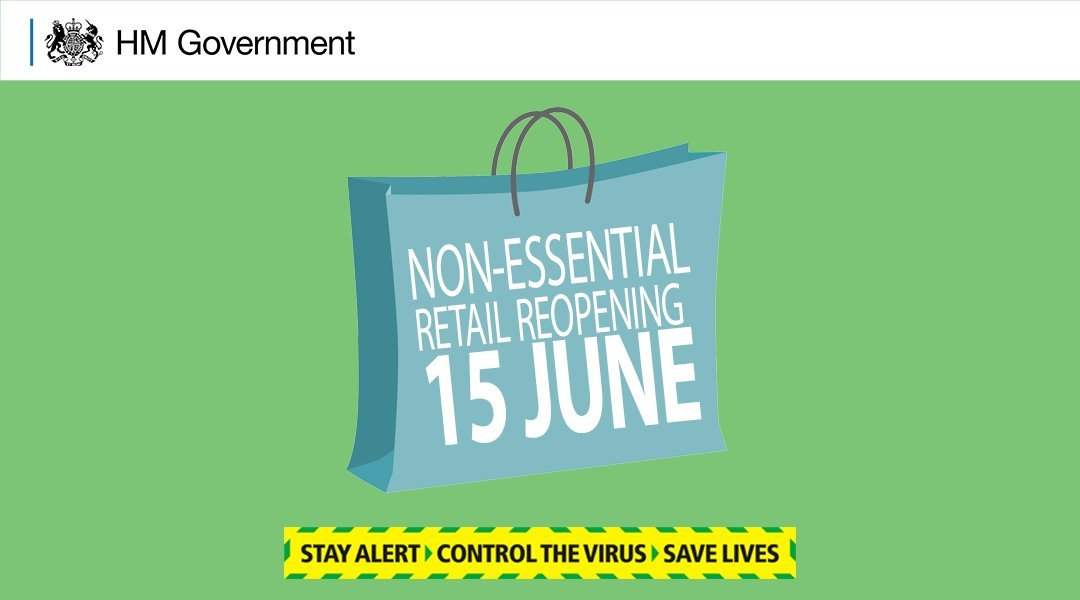 Non-essential retail shops to open from 15 June