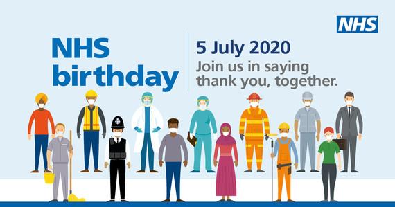 Happy birthday NHS graphic