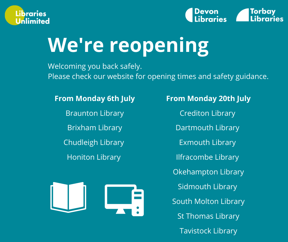 list of libraries reopening