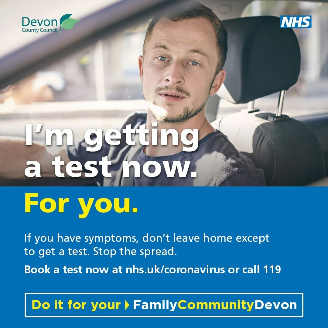 I'm getting tested now for you poster - Do it for Devon