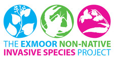 Exmoor invasive non-native species project logo